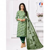 PURE COTTON DRESS MATERIAL-EGreen