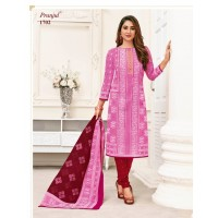 PURE COTTON DRESS MATERIAL-PINK